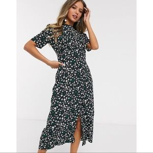 ASOS Design Midi Tea Floral Dress Size